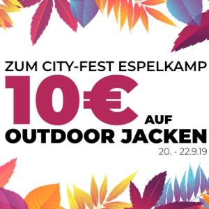10 € auf Outdoor-Jacken